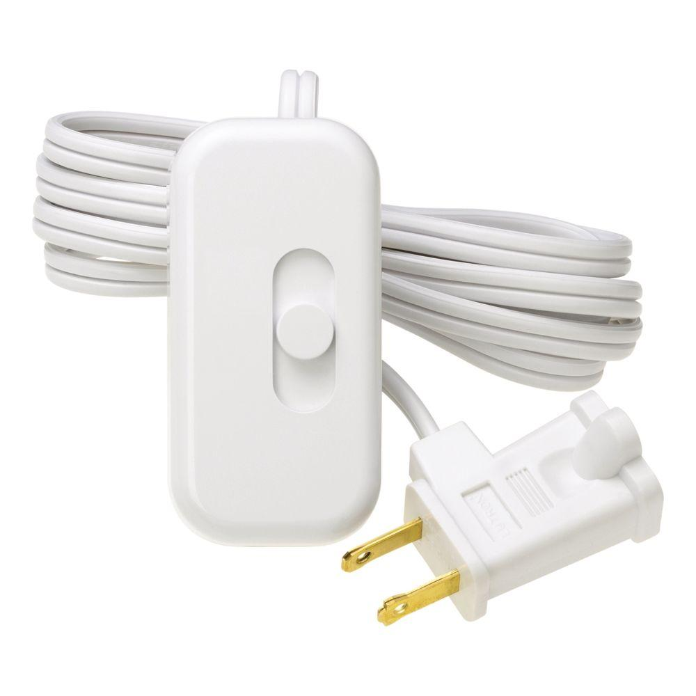Lutron Credenza Plug-In Dimmer for Incandescent and Halogen, White
