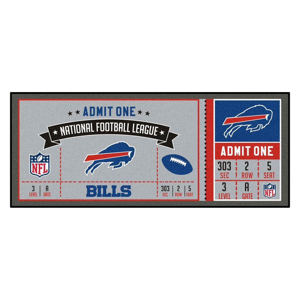 NFL - Buffalo Bills 30 in. x 72 in. Indoor Ticket Runner Rug