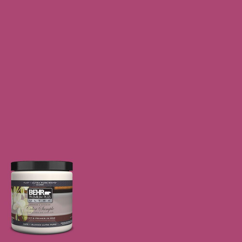 BEHR Premium Plus Ultra 8 oz. #100B-7 Hot Pink Matte Interior ...