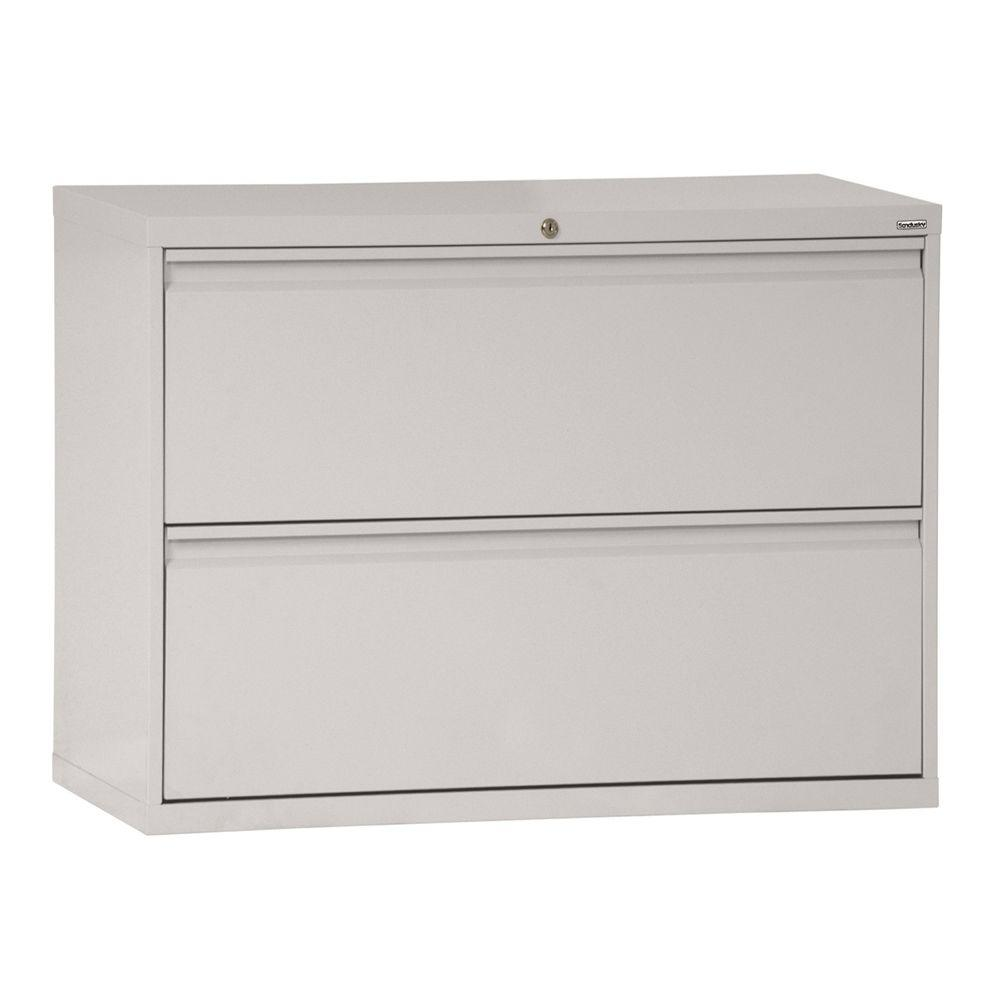 W 2 Drawer Full Pull Lateral File Cabinet In