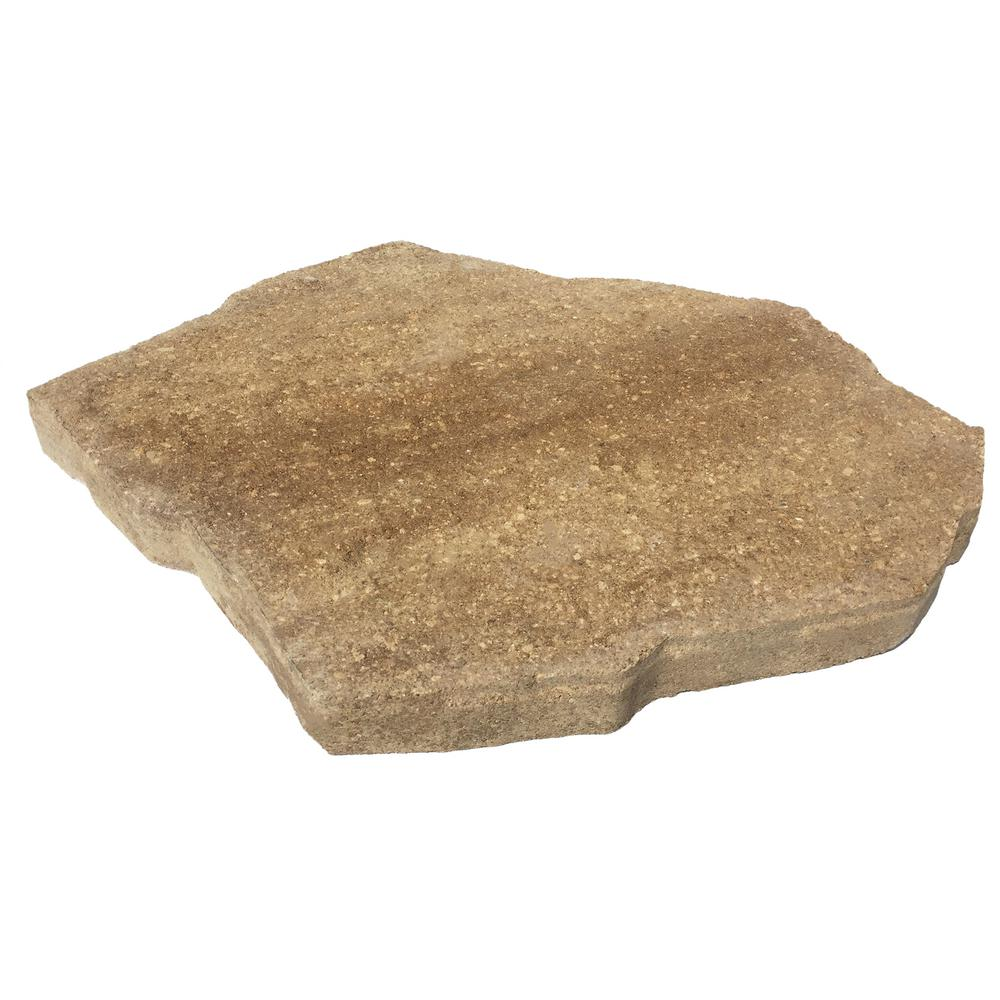 Sand/Tan Irregular Concrete Step Stone 12101250   The Home Depot