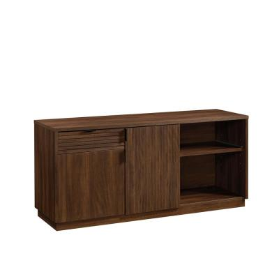 Englewood 65.118 in.W Spiced Mahogany Office Credenza with Pull-out Printer Shelf