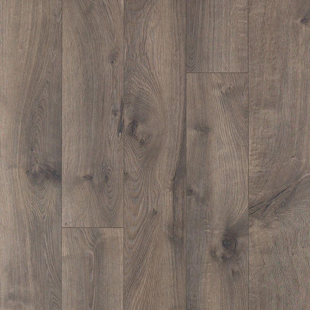 Gray Beveled Authentic Textured Laminate Wood Flooring