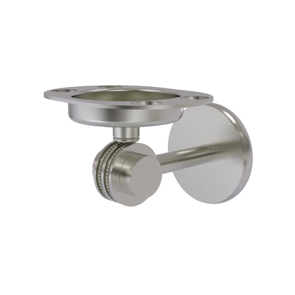 Allied Brass 7226D-SN Satellite Orbit Two Collection Tumbler and Toothbrush Holder with Dotted Accents Satin Nickel