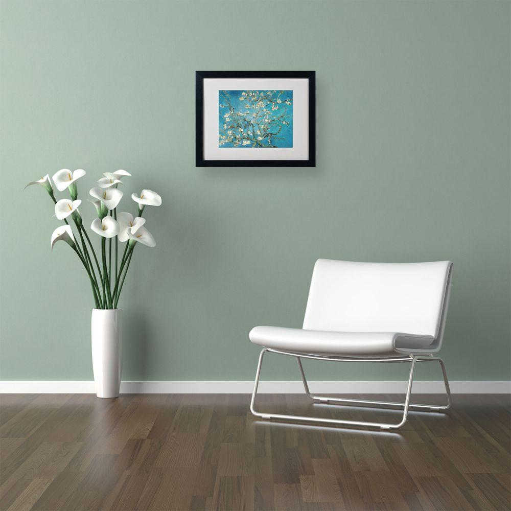 16 in. x 20 in. Almond Branches Matted Black Framed Wall