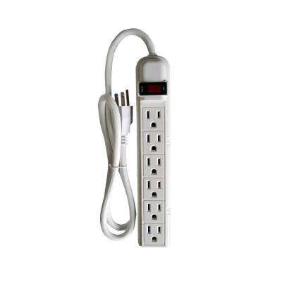 6-Outlet Power Strip with 3 ft. Cord (2-Pack)