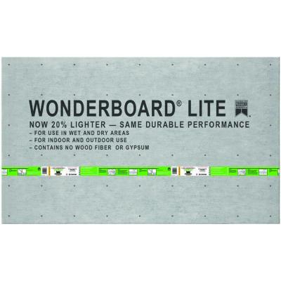 WonderBoard Lite 5 ft. x 3 ft. x 1/4 in. Backer Board