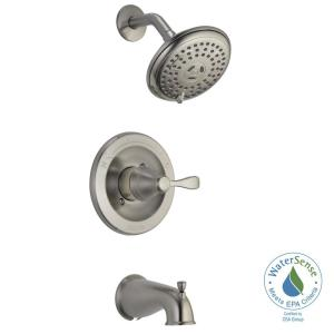 Delta Porter Single-Handle 3-Spray Tub and Shower Faucet in Brushed Nickel (Valve Included) by Delta
