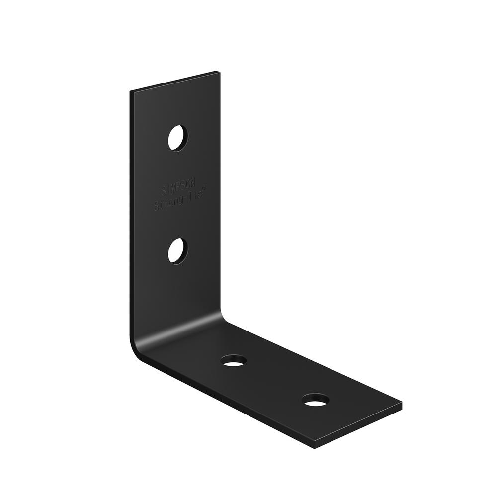 Simpson Strong-Tie HLPC 5 in. x 3 in. Black Powder-Coated Ornamental Heavy Angle