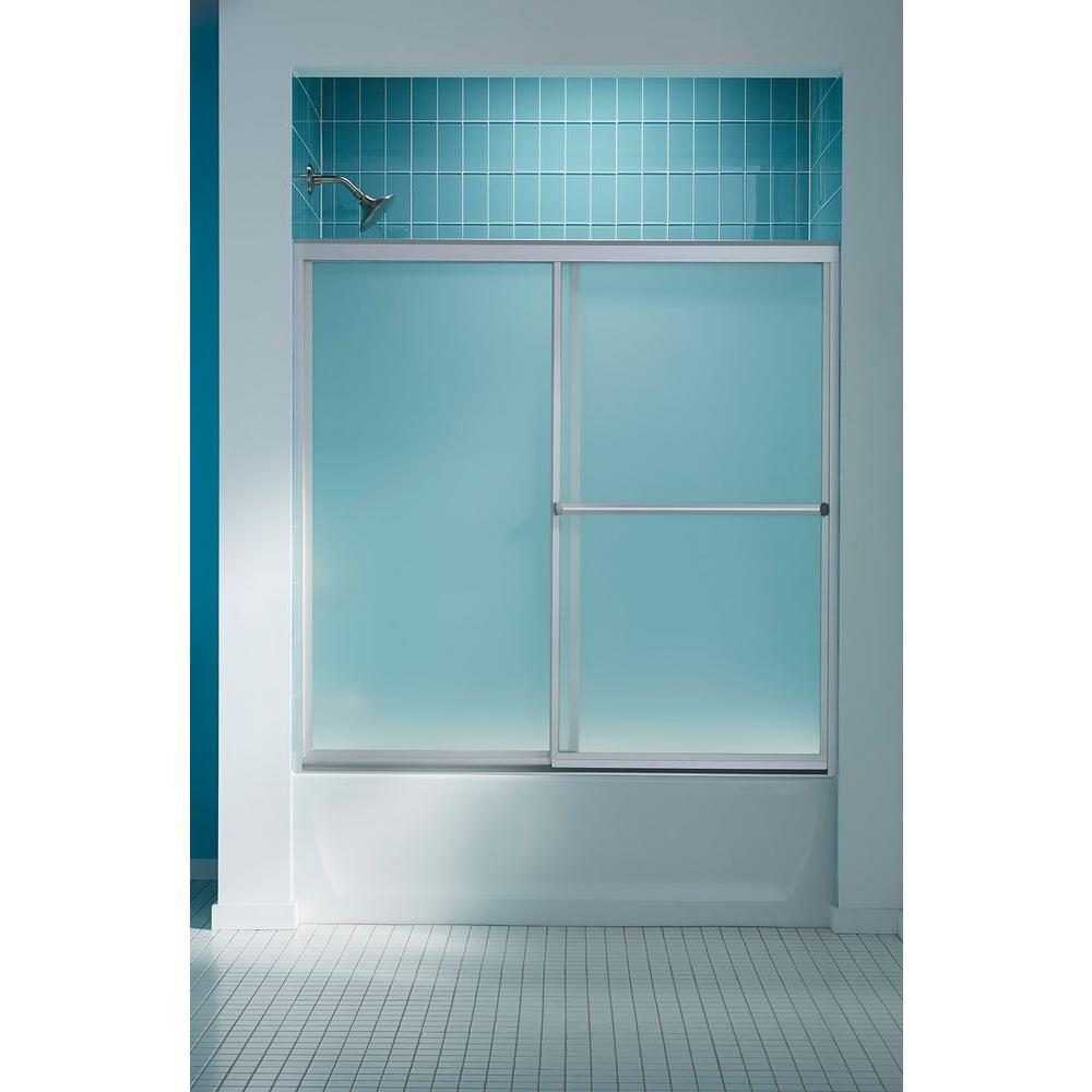 STERLING Prevail 57 in. x 59-3/4 in. Framed Sliding Bathtub Door in Nickel with ComforTrack Technology