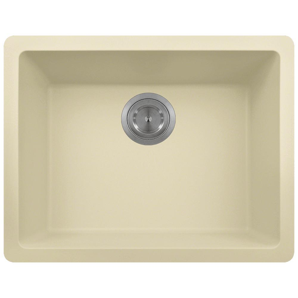 Dualmount Composite 22 in. Single Bowl Kitchen Sink in Beige