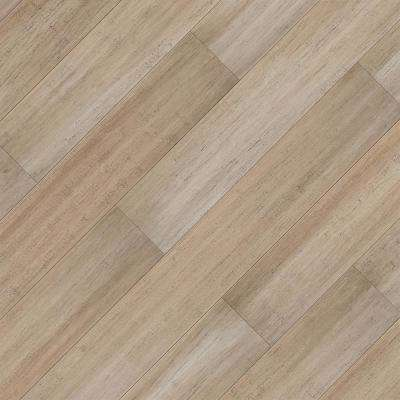Take Home Sample - Hand Scraped Strand Woven Mojave Click Lock SPC WR Bamboo Flooring - 5 in. x 7 in.