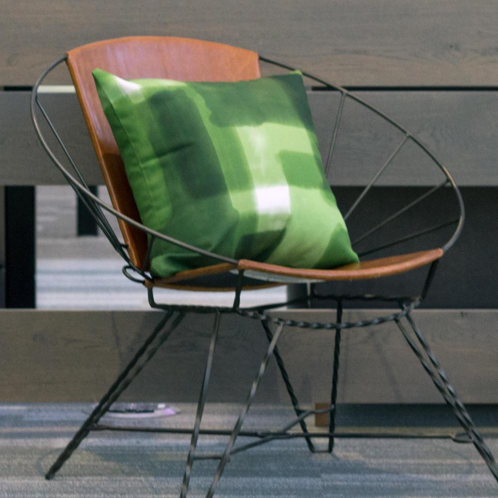 Highland Park Seaglass Block Decorative Pillow
