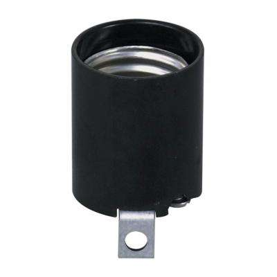 660 Watt Phenolic Incandescent Lampholder, Black