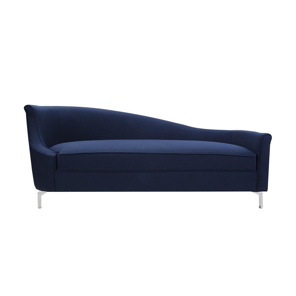 Midnight Blue Celeste Tight Back Chaise Lounge