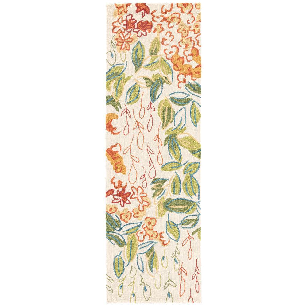 Jaipur Living Veranda Pristine 3 ft. x 8 ft. Floral Runner Rug