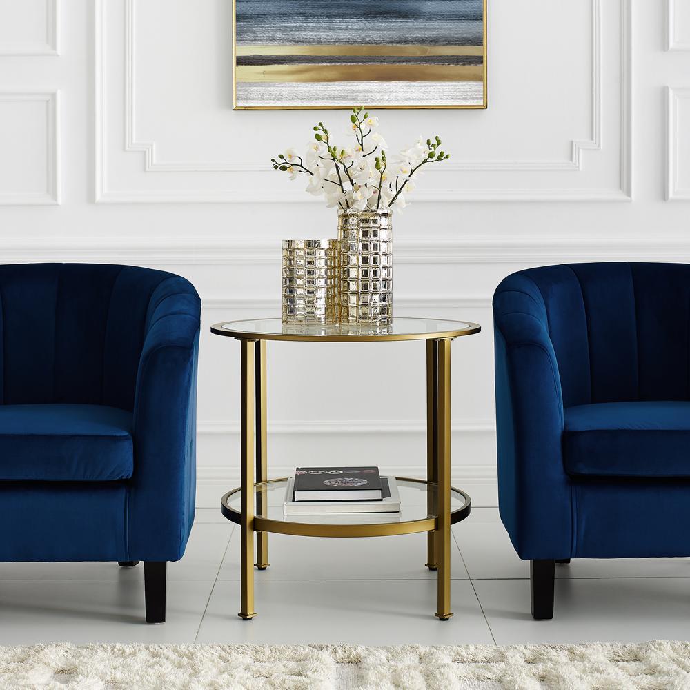 Crosley Furniture Aimee Gold Gl Side Table Cf1309