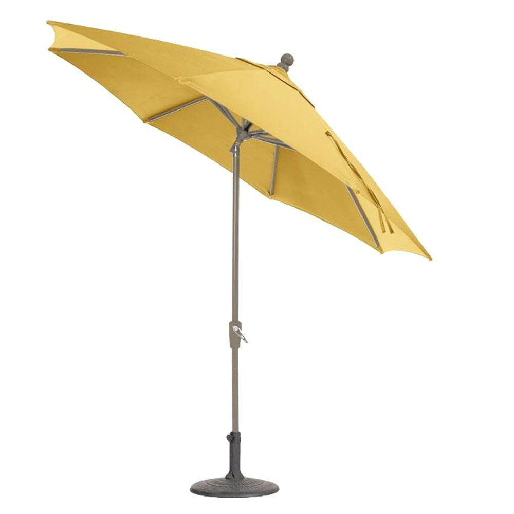 null Sunbrella 11 ft. Auto-Tilt Patio Umbrella in Buttercup