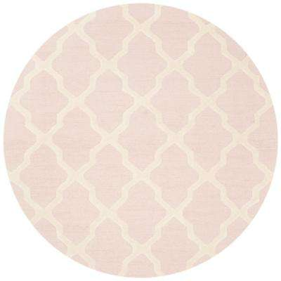 Cambridge Light Pink/Ivory 8 ft. x 8 ft. Round Area Rug