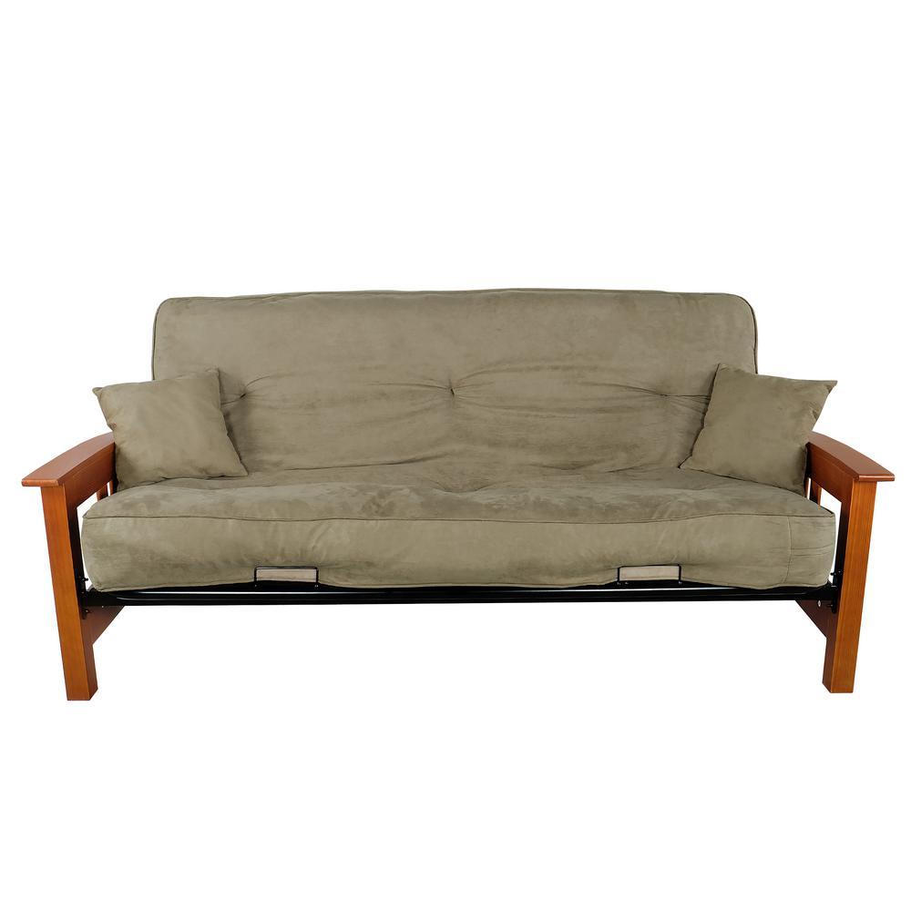PRIMO INTERNATIONAL Indie Sage Green Upholstered Futon by PRIMO INTERNATIONAL
