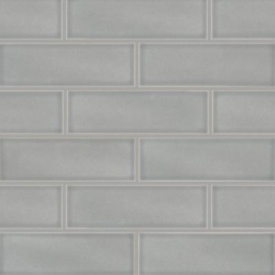Morning Fog 4 in. x 12 in. Glossy Ceramic Gray Subway Tile (5 sq. ft. / case)