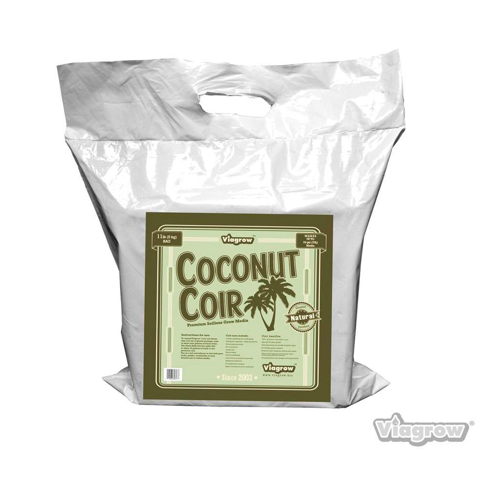 Viagrow 11 lb. Coconut Coir Block of Soilless Media