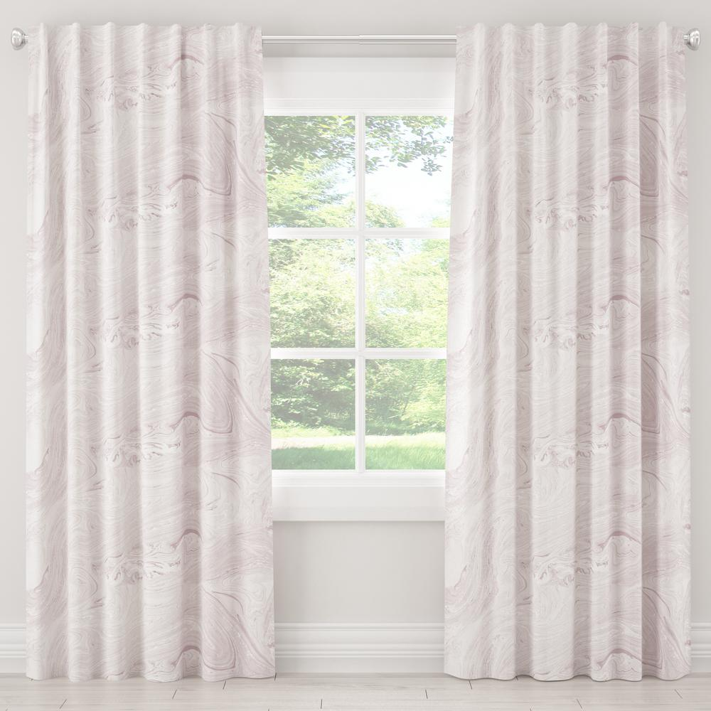 Skyline Furniture 50 in. W x 96 in. L Blackout Curtain in Marble Sands Lavender