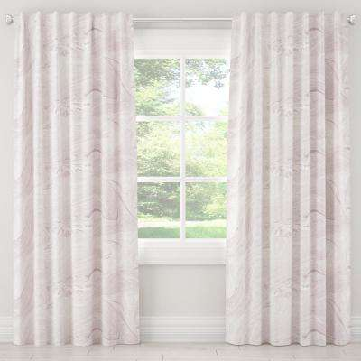 50 in. W x 120 in. L Blackout Curtain in Marble Sands Lavender