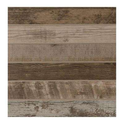 Modern Outdoor Living Weathered Wood 18 in. x 18 in. Glazed Porcelain Floor and Wall Tile (17.60 sq. ft. / case)