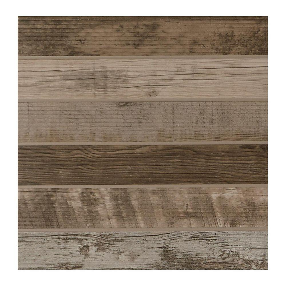 Daltile modern outdoor living weathered wood 18 in x 18 in glazed porcelain floor
