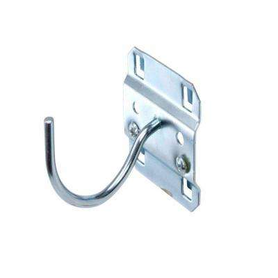 2-1/4 in. Curved 2 in. I.D. Zinc Plated Steel Pegboard Hook for LocBoard (5-Pack)