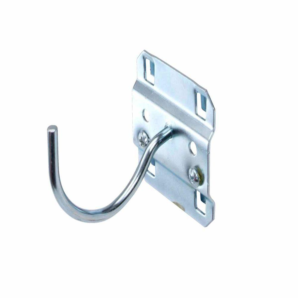 2-1/4 in. Curved 2 in. I.D. Zinc Plated Steel Pegboard Hook