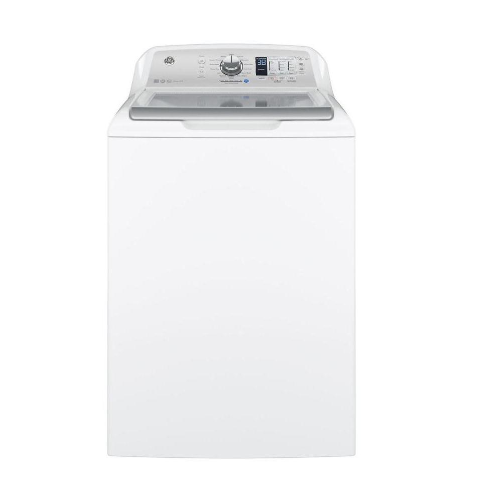 GE 4 6 cu  ft  High-Efficiency White Top Load Washing Machine, ENERGY STAR