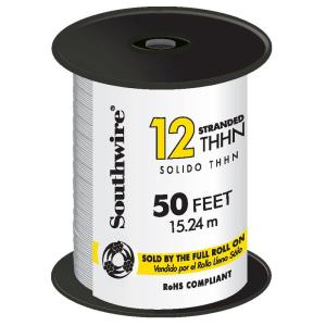 50 ft. 12 White Stranded CU THHN Wire