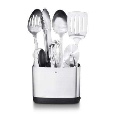 Steel Kitchen Utensil Set (Set of 9)
