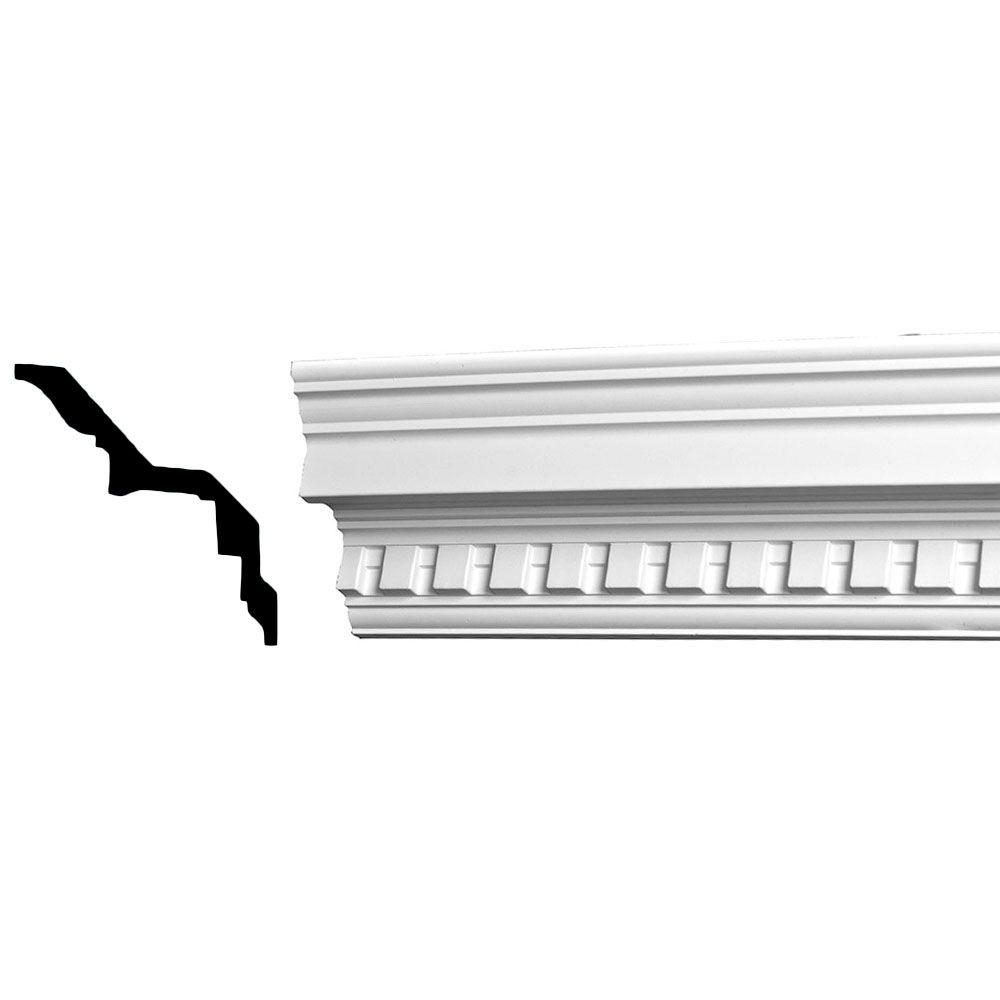 4-3/8 in. x 4-5/8 in. x 94-1/2 in. Dentil Polyurethane Crown