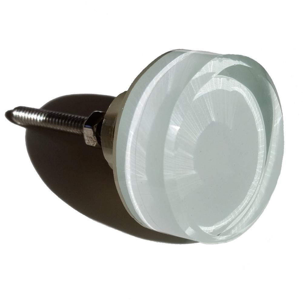 round glass cabinet knobs. 1-3/8 In. Round White Glass Cabinet Knob Knobs D