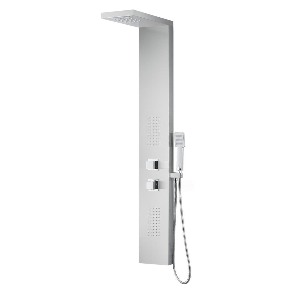 EXPANSE Series 64 in. 2-Jetted Full Body Shower Panel System with