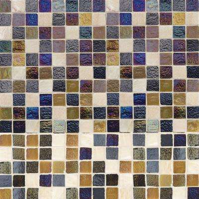 Mediterranean Cut-Edge 12 in. x 12 in. x 6 mm Glass Travertine Mosaic Wall Tile