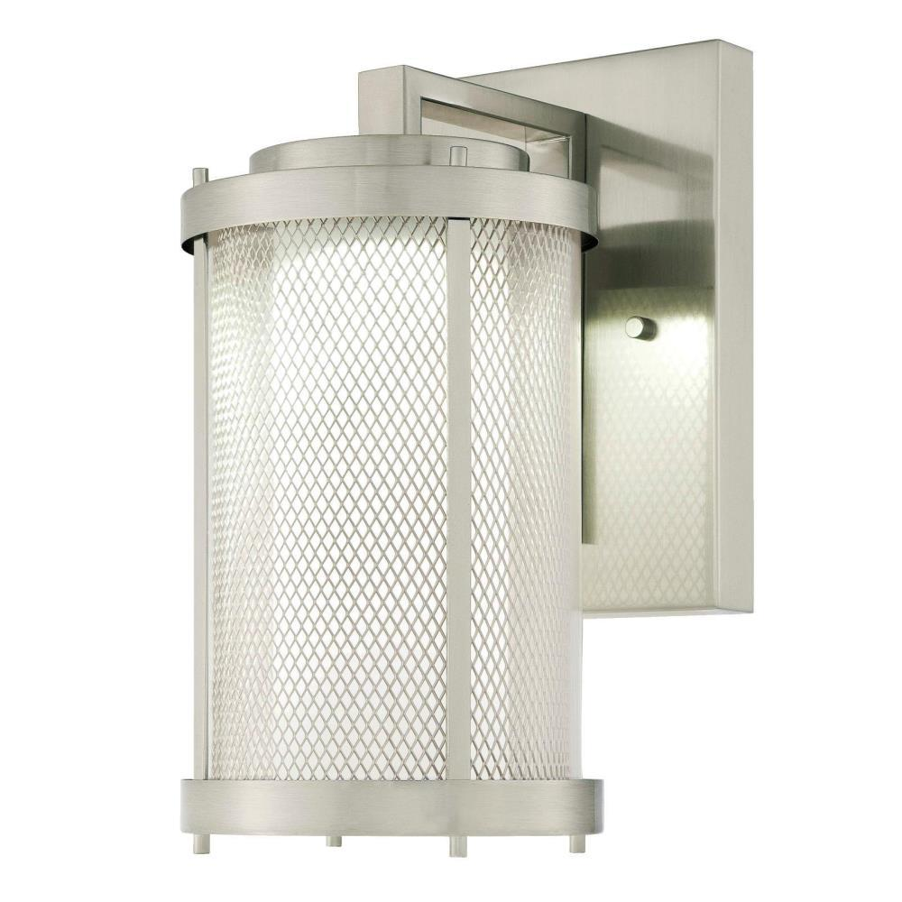 Westinghouse Skyview Brushed Nickel 1 Light Outdoor Integrated Led Wall Lantern 6318300 The