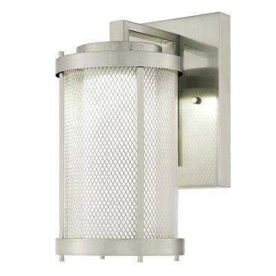 Skyview Brushed Nickel 1-Light Outdoor Integrated LED Wall Lantern
