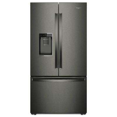 24 cu. ft. French Door Refrigerator in Black Stainless, Counter Depth