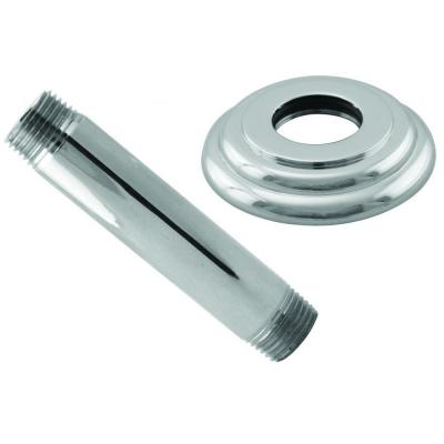 4 in. Ceiling-Mount Shower Arm and Flange in Polished Chrome