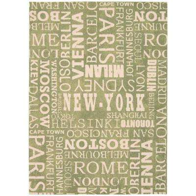 Pattern Destinations Wasabi 8 ft. x 11 ft. Area Rug