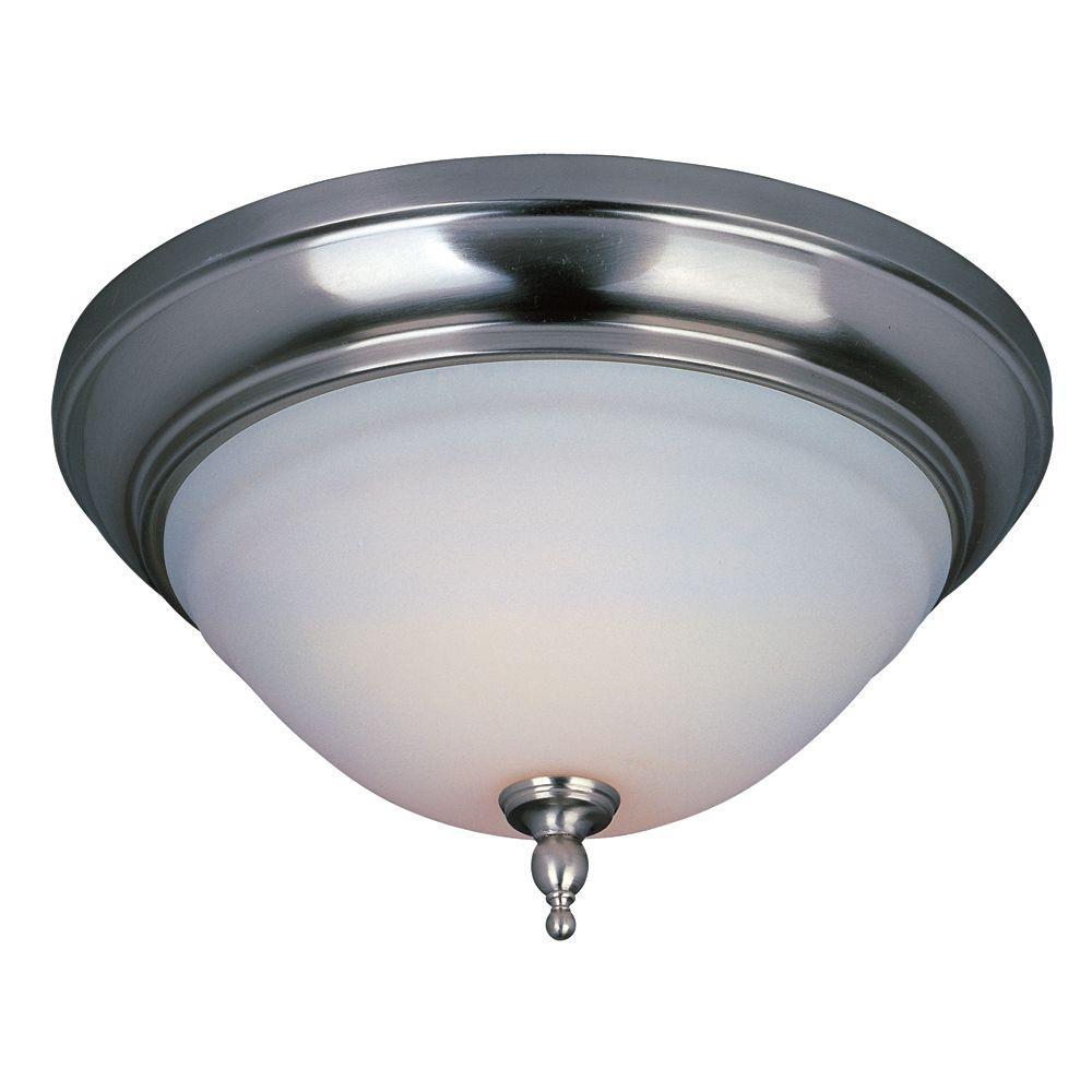 Montpellier Collection 2-Light Satin Nickel Ceiling Flush Mount