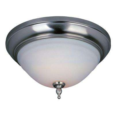 Montpellier Collection 2-Light Satin Nickel Ceiling Flushmount