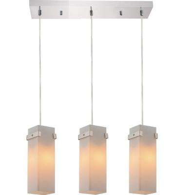 Hype 3-Light Chrome Chandelier with White shade