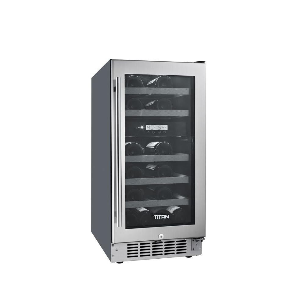 Titan 23-Bottle Seamless Stainless Steel Dual Zone Built-...