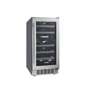 Click here to buy TiTAN 23-Bottle Seamless Stainless Steel Dual Zone Built-In Wine Cooler by TiTAN.