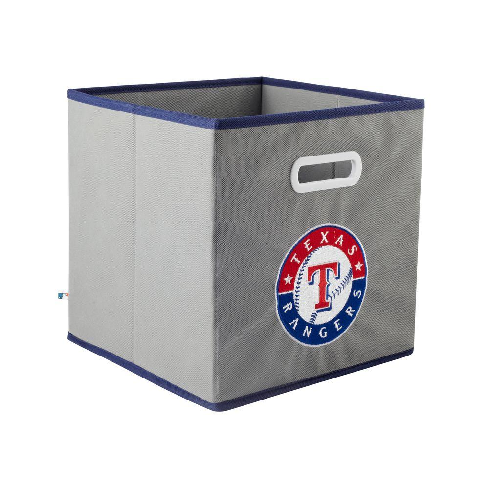 MyOwnersBox MLB STOREITS Texas Rangers 10-1/2 in. x 10-1/2 in. x 11 in. Grey Fabric Storage Drawer